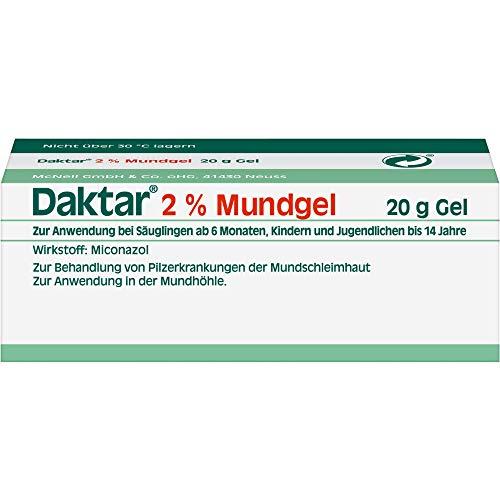 Daktar 2% Mundgel bei Pilzerkrankungen der Mundschleimhaut, 20 g Gel