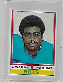 Ahmad Rashad 1974 Topps Football Rookie Card #105 - Buffalo Bills - Stored in a Protective Plastic Display Case!!