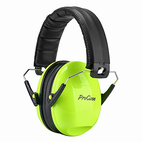 ProCase Kids Safety Ear Muffs Noise Reduction Ear Hearing Protection Earmuffs –Green