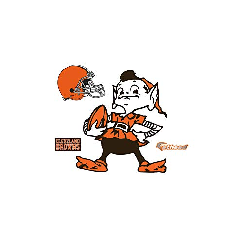 FATHEAD NFL Cleveland Browns - Brownie Logo Teammate- Officially Licensed Removable Wall Decal, Multicolor, Big