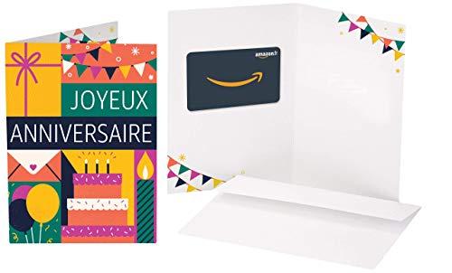 Carte cadeau Amazon.fr - Dans une carte de vœux Anniversaire Icônes émeraudes et jaunes