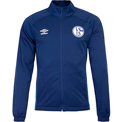 UMBRO FC Schalke 04 - Chaqueta de punto (talla S, color azul marino)