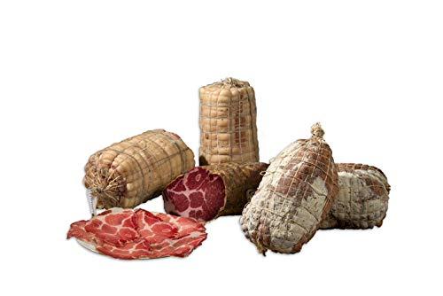 """Italienisch Packet mit einheimischen """"Coppa"""" (Schweinekamm) und """"Pancetta"""" (Schweinebauch) aus Pizzoccheros Bauernhof aus Bergamo - Packung mit Stücken von ca.1 Kg"""