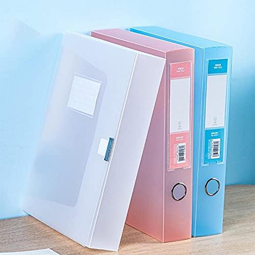 TOMOP 3 scatole di riempimento di file per ufficio scatole di documenti scatole di documenti scatole di cartelle 3 colori organizzatore per ufficio scuola business file documenti archiviazione