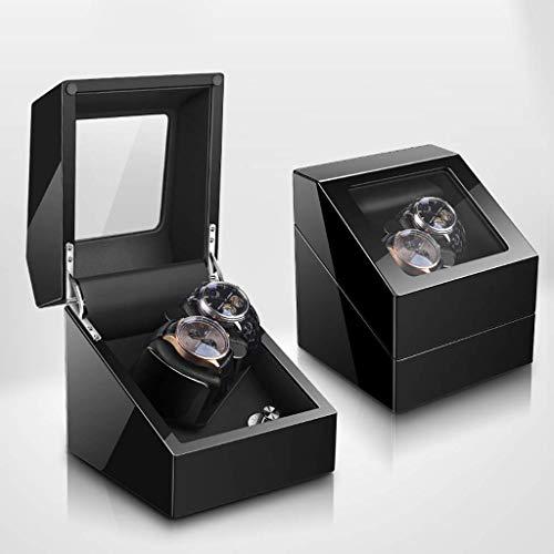 GLXLSBZ Caja automática para reloj con doble caja de almacenamiento automática para 2 relojes de pulsera con motor silencioso Mabuchi – 5 modos de rotación