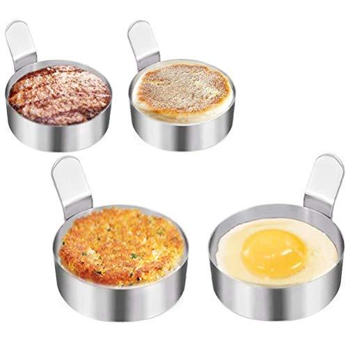 Jky spiegeleivorm eierring braadring eivorm voor Beefsteak eieren braadpannenkoeken keukengereedschap keuken tool anti-aanbak ronde hittebestendige 4 stuks