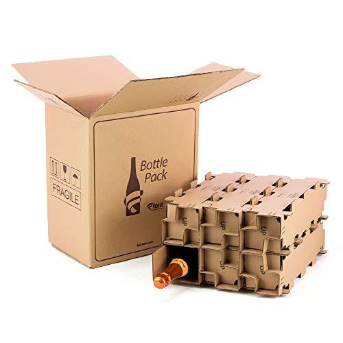 KARTOX | Pack 5 Cajas de cartón para envío Botellas | Capacidad para 6 Botellas | con Caja Interna Alta protección | 100% ecológico | Evita Roturas