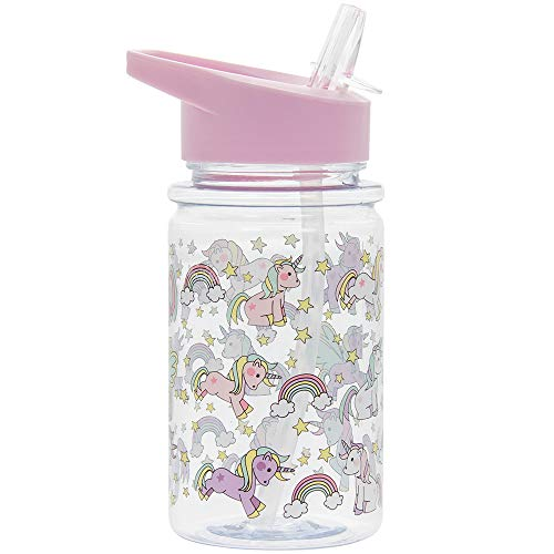 Lesser & Pavey Little Stars Unicorn-Botella para Beber, Height 17cm