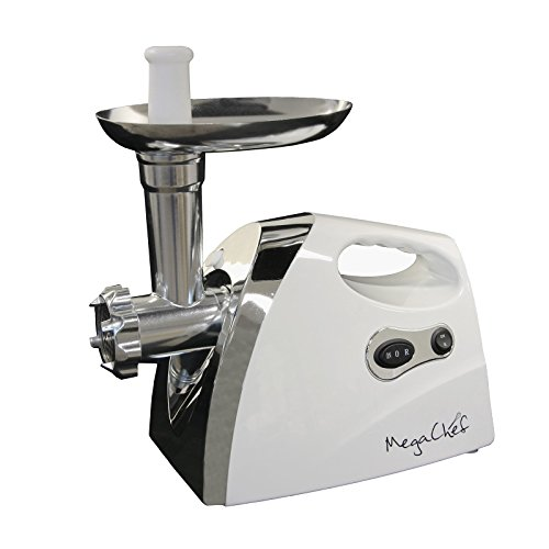 Megachef 1200 Watt Powerful Automatic Meat Grinder for Household Use, white (MG-650)