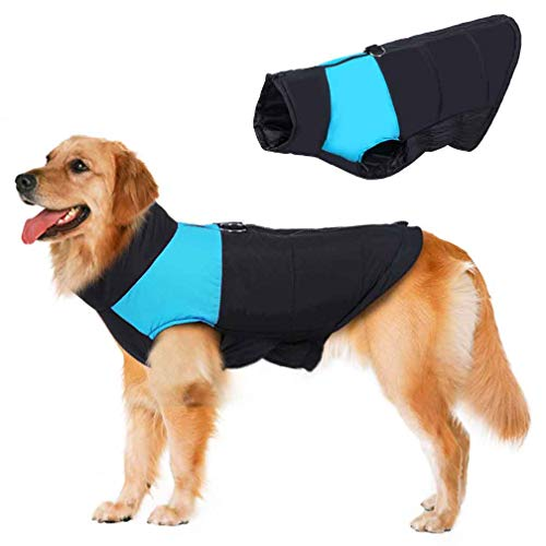 Dog Coat Vest Windproof Warm Dog Clothes Plus Size for Cold Weather Outdoor Extra Protection Down Jacket for Extra Large...