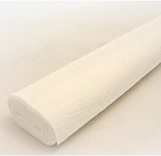 FloristryWarehouse White 600 Crepe paper roll 20 inches wide x 8ft long. Top quality Italian paper craft