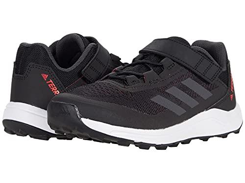 adidas Terrex Agravic Flow Running Shoe, Core Black/Dark Grey Heather/Solar Red, 7 US Unisex Big Kid