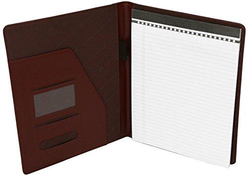 41WTfpdAU2L - Cartera portafolios de estilo ejecutivo - Para documentos de tamaño A4 - Cuero abatanado - Marrón
