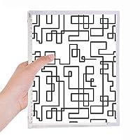 六角形の線画イラストパターン粒 硬質プラスチックルーズリーフノートノート