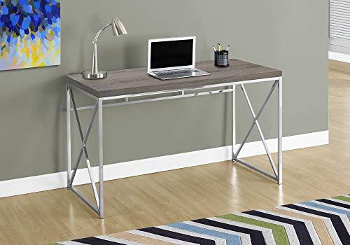 "Monarch Specialties Computer Desk - Contemporary Home & Office Desk - Scratch-Resistant - 48"" L (Dark Taupe)"