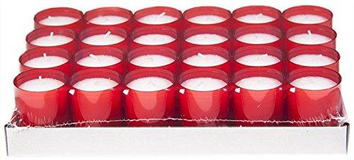 Sovie Refill Kerzen 24 rote Teelichter mit extra Langer Brenndauer (24h) für Feiern/Party/Gastronomie