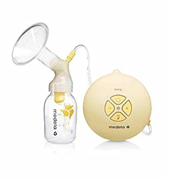 Medela Swing Single Electric Breast Pump Compact and Lightweight Motor 2-Phase Expression Technology Convenient AC Adaptor or Battery Power Single Pumping Kit Easy to Use Vacuum Control
