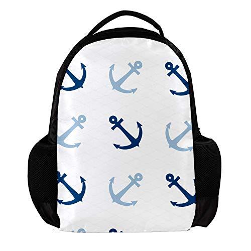 TIZORAX Leuke Anker Achtergrond School Rugzak Rugzak College Bookbag Reizen Laptop Daypack Tas voor Mannen Vrouwen