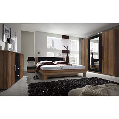 AZURA HOME DESIGN Chambre complète Vera II 160x200 cm, wengé - Armoire: sans Armoire