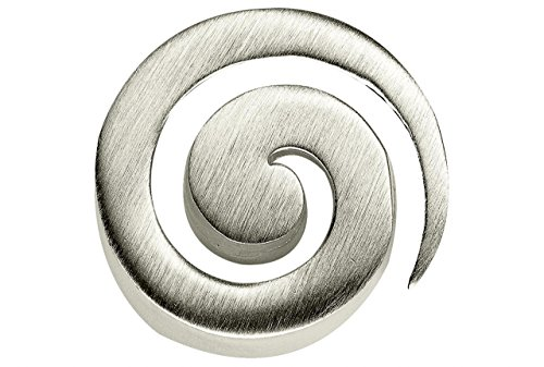 SILBERMOOS Anhänger Spirale offen Kreis rund matt 925 Sterling Silber/Kette optional