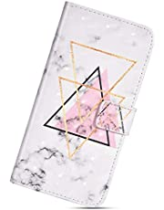 Fodral kompatibel iPhone SE/5S/5, fodral KunyFond 3D lack läder flip plånbok målad retro präglad mönster framsida baksida helkropp folio stativ funktion kortspår magnetisk stängning pojke stötfångare-triangel