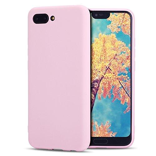 MoEvn Custodia Huawei Honor 10 Cover, Ultra Slim Morbido Posteriore Case in TPU Silicone per Honor 10 Smartphone Antiurto Flessibile Sottile Opaco Gel Protezione Bumper (Rosa)