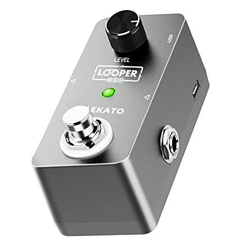 LEKATO - Pedal para guitarra eléctrica, efecto looper de bucle ilimitado, 5 minutos, estación de bucle para verdadero bypass con cable USB