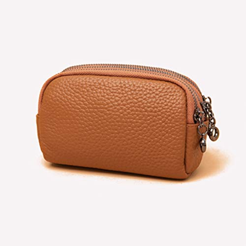 Vrouwen Portemonnees Wallet grote capaciteit de luxe lederen portemonnee portemonnee met ritsvak (Color : Yellow)