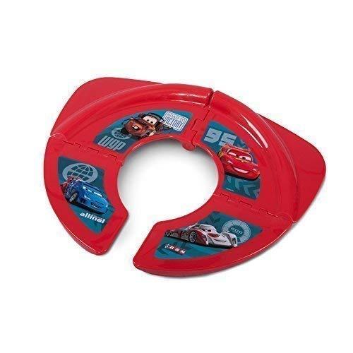 Faltbarer Premium Kinder-Toilettensitz für unterwegs, für Kleinkinder, stabiler faltbarer WC-Sitz mit Anti-Rutsch-Funktion, tragbarer Reise-WC-Sitz mit Tasche, Disney Cars rot