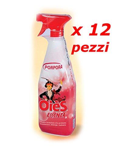 OièS Essenza Profumata Sgrassatore – 12 Flaconi PORPORA 750 ml oies oie oiè olè