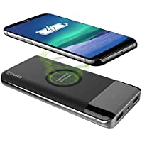 Aduro Wireless Qi 10000 mAh Power Bank with Dual USB Charging Ports