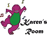 Barney Purple Dinosaur Dinosaurs Music Notes Baby Nursery Nurseries Room Personalized Custom Names Name Wall Decals Babies Baby Toddlers Bedroom Rooms Walls/Boy Stickers Sticker Decal (10x10 inch)