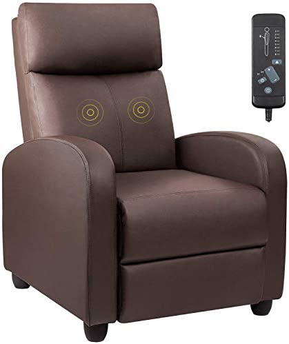 Best Devoko Recliner Chair Massage Home Theater Seating PU Leather Modern Living Room Chair Padded Cushio