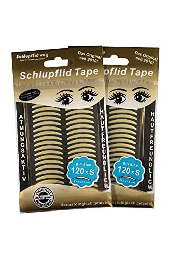 """'Schlupflid Tape- Adhésifs pour la correction des paupières tombantes – Lifting des paupières sans chirurgie esthétique (emballage S""""Girl Size 2 X 60 paires de bandes adhésives)."""
