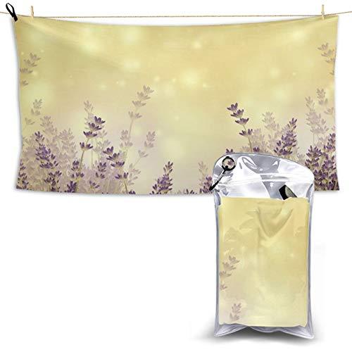 Toalla de playa de microfibra de secado rápido para escritorio, diseño de flores, ligera y superabsorbente con una bolsa de transporte para gimnasio, camping, piscina
