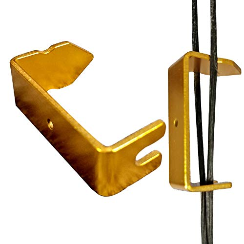 AMEYXGS Archery Bowstring Separator, Install Peep Sight Tool, Bow String Separator Tool for Compound Bow Archery Accessories (Yellow)