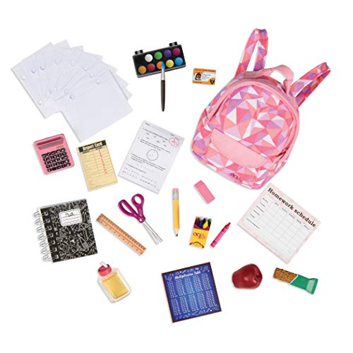 Our Generation- Set Accessori per la Scuola, Colore Unico, BD37326Z