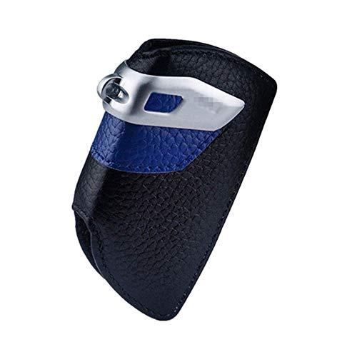 Happyit Caso Elegante de la Cubierta de la llave del Cuero Genuino del Coche para BMW Accesorios Teledirigidos (Espada Azul)