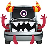 Halloween Trunk or Treat Car Decoration Monster Face Car Decoration with Double Side Sticker Halloween Car Archway Garage Decor with Eye, Fang, Ear for Halloween Car Decoration