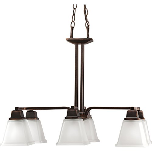 Progress Lighting P4003-74 6-Light North Park Chandelier, Venetian Bronze