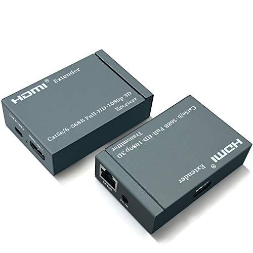 HDMI Extender Over Single CAT5/CAT6, Koopman 196-Feet HDMI...