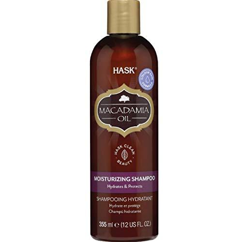 HASK Macadamia Moisturizing Oil Shampoo, feuchtigkeitsspendend, für alle Haartypen, farbecht, glutenfrei, sulfatfrei, parabenfrei, 355 ml