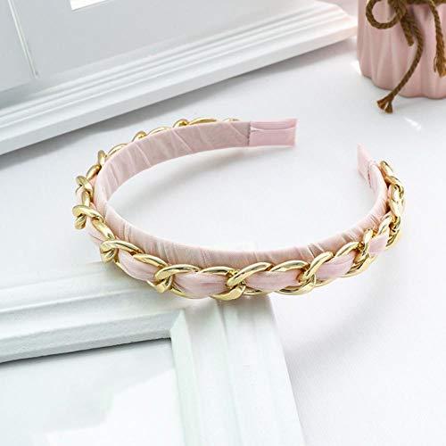 Empty Mode Douce Douce Dentelle chaîne Bandeau en métal Femmes Anneau de Cheveux Accessoires pour Cheveux Cadeau-Rose