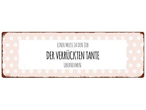 Interluxe METALLSCHILD Türschild Einer MUSS JA DEN Job DER VERRÜCKTEN Tante Geschenk