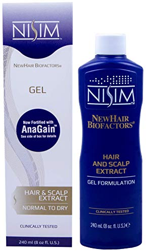 NISIM NewHair BioFactors Hair and Scalp Gel Extract with AnaGain For Normal To Dry Hair - Gel Extract Specially Formulated To Maximize The Natural Growth-Cycle Of Your Hair (8 Ounce / 240 Milliliter)