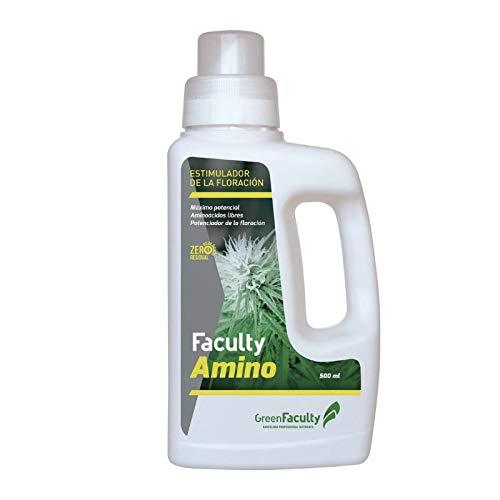 GreenFaculty - Amino - Fertilizante Abono Floración Orgánico y Ecológico Líquido con Aminoácidos para Cultivo de Plantas de Interior y Exterior. 500 mL