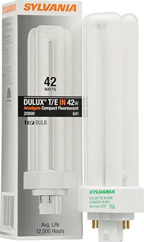 Sylvania 20890 Compact Fluorescent 4 Pin Triple Tube 4100K, 42-watt