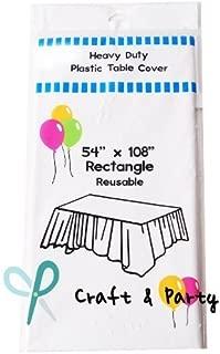 Best rectangular plastic tablecloths Reviews