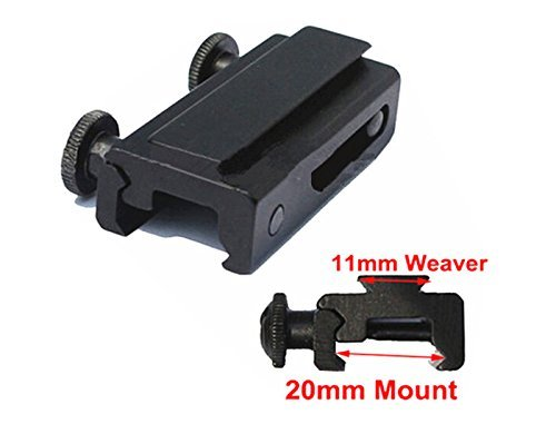 FIRECLUB 20mm Dovetail to 11mm Extension Weaver Picatinny Rail Scope Mount Base Adapter