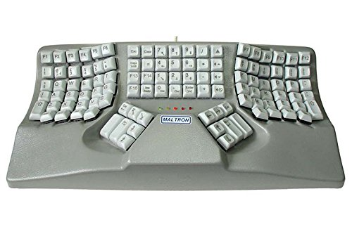 Maltron contoured keyboard for 2 hands